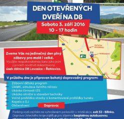 Přijďte na Den otevřených dveří na dálnici D8