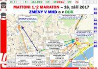 Změny v Ústí nad Labem během Mattoni 1/2 maratonu 16.9.2017