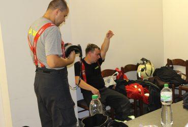 Roudničtí hasiči na výcviku v polygonu dýchací techniky