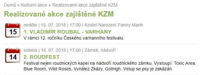Červenec – Program KZM