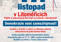 Litoměřice – 17. Listopad proběhne veřejné shromáždění