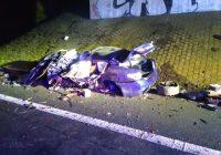 Tragická nehoda OA na D8 u Mnetěše